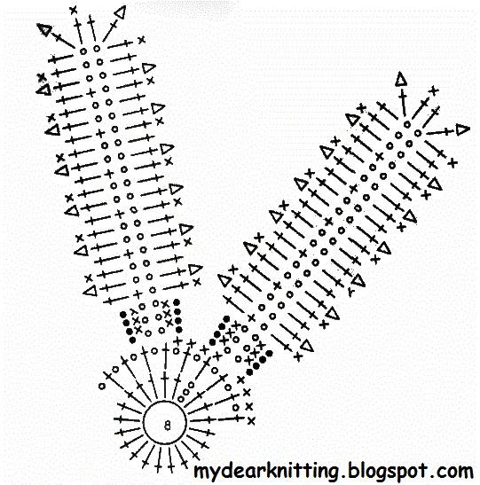Вязание цветок ромашка схема 672