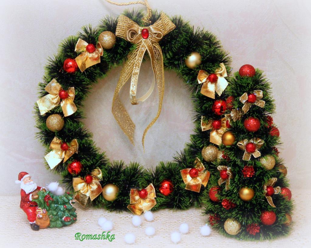 Как сделать рождественский венок из елки