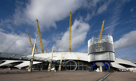 Прогулка по крыше O2 Arena