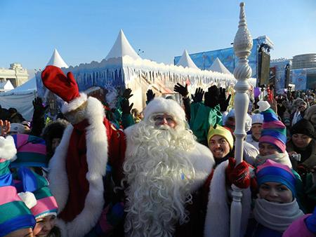 Встреча с Дедом Морозом в Парке Горького