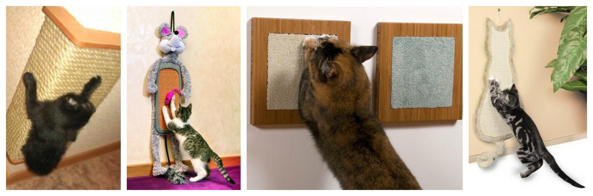 Когтеточка для кошки своими руками на стену 840