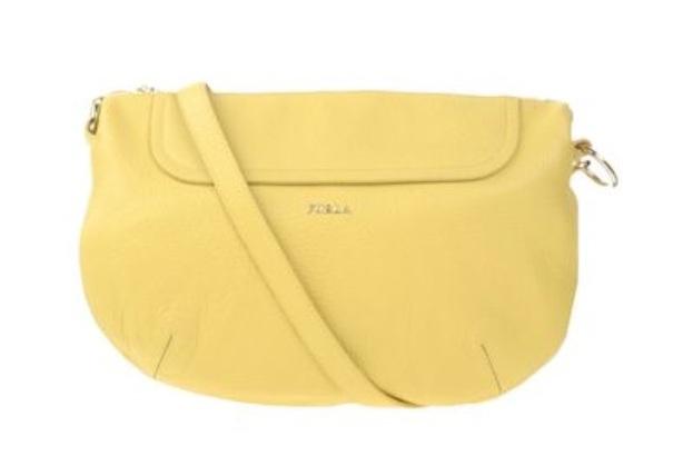 Белая шикарная кожаная сумка Furla оригинал купить в