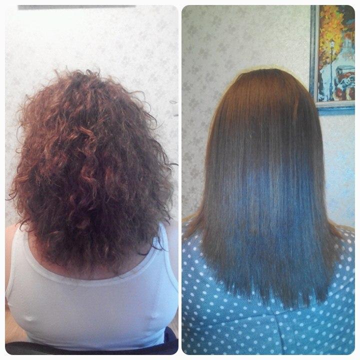 Кератиновое выпрямление волос как смыть