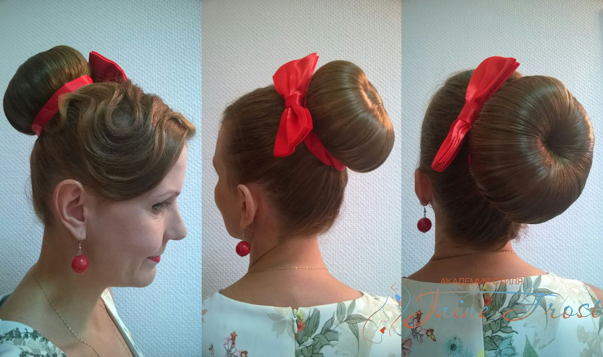 Женская прическа в стиле стиляг фото