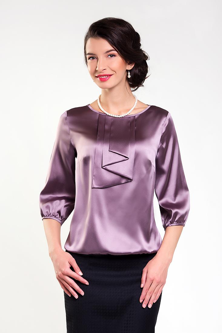 фасон шелковой блузки