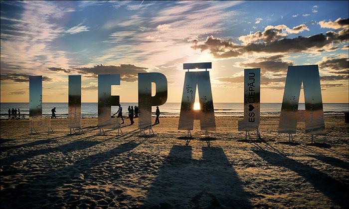Пляж Лиепая