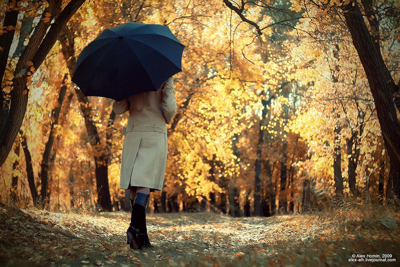 фото девушки на аву осень