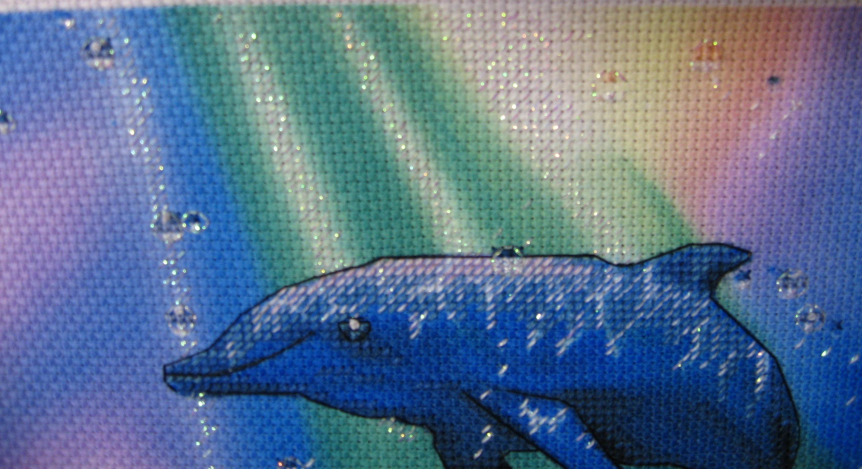 Вышивки для детей. Дельфин, рисунки для вышивки крестом 2