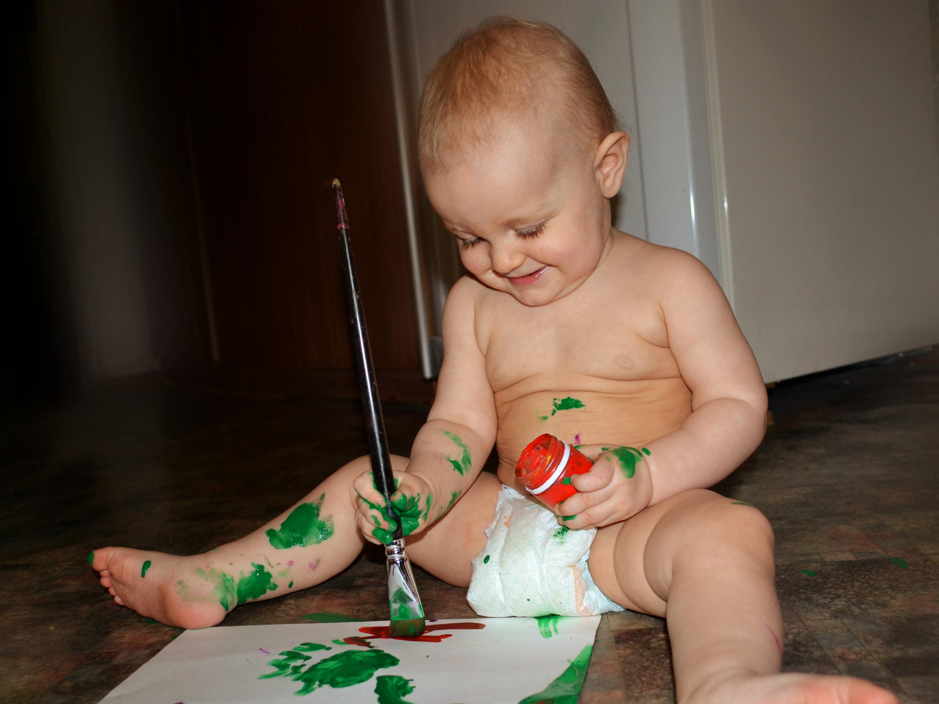Вот мы взяли краски в руки...... Умелые руки