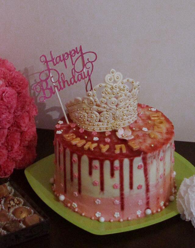 Мой самый первый торт. Почти 6кг, 20 высотой. Блиц: торт