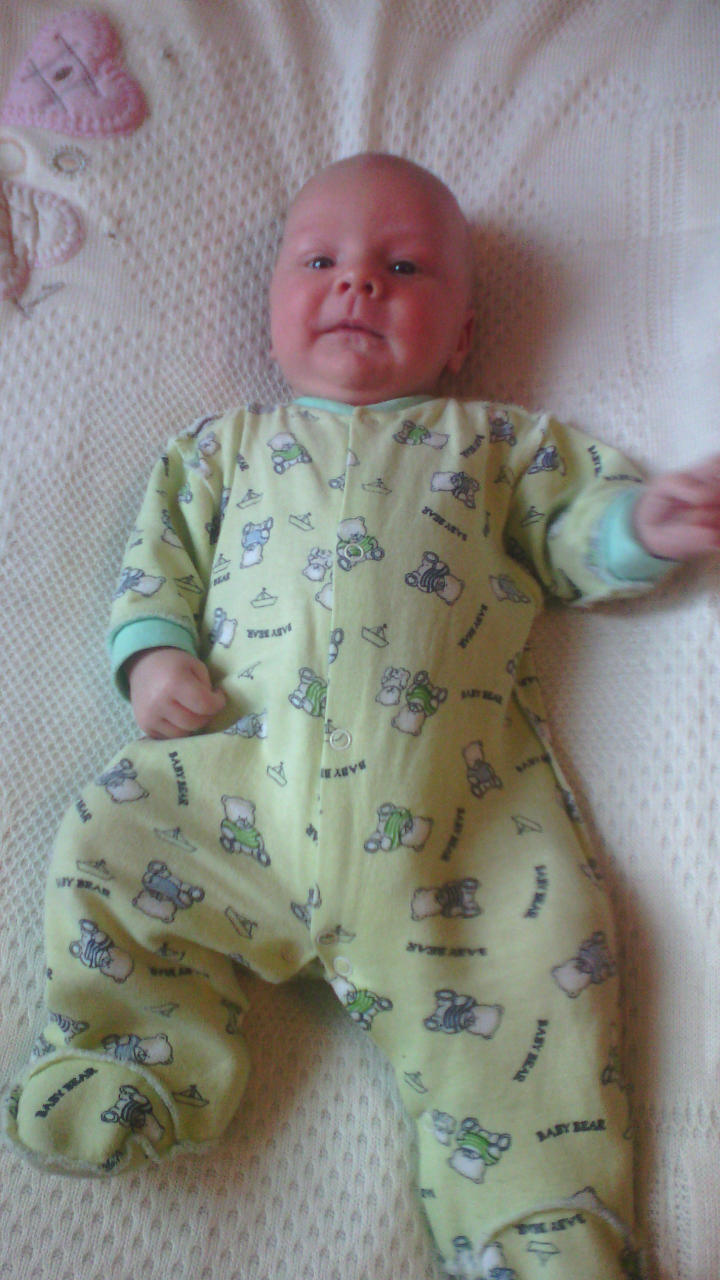 Димочка 1 месяц. Мой малыш