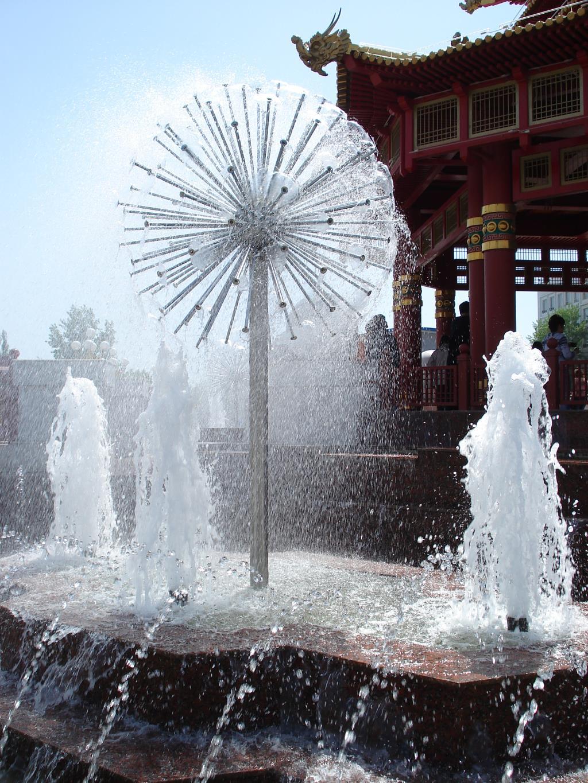Брызги фонтана(Элиста). Блиц: брызги