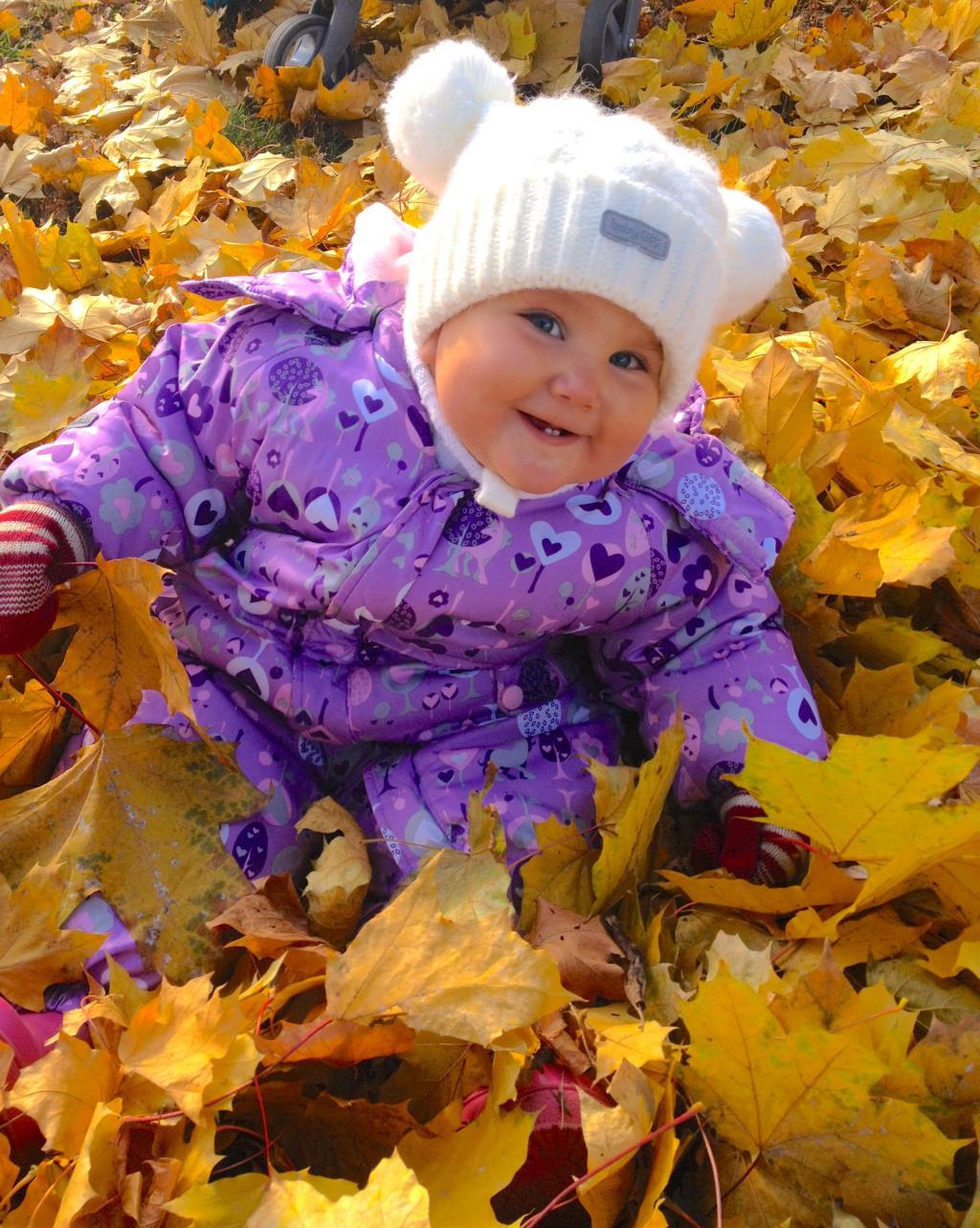 Первая осень, первые зубки и счастье в глазах :). Краски осени
