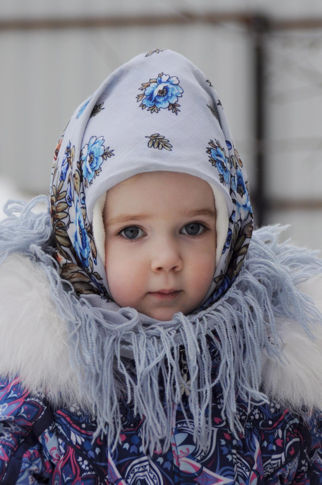 Варенька, 3года. Зимний образ