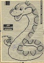 Змея из бисера схема плетения игрушки.