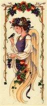 """Схема - 03864 -  """"Angel of bounty """", фото 1 - Схемы для вышивания крестиком."""
