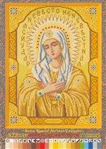 """Схемы для вышивания крестом форм.  А3 03  """"Икона Божией Матери Умиление """" ."""