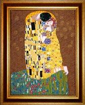 """Картина 41=51 Густав Климт  """"Поцелуй """", Вышивка на заказ, pravilo, москва."""