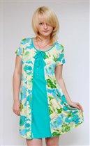 Комплект домашней одежды халат-пеньюар + сорочка Flammber Л006, комплекты женские домашние оптом и в розницу