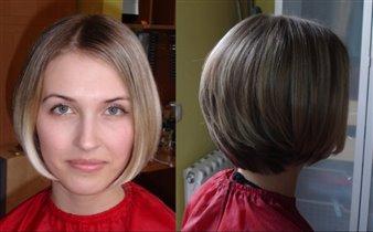 Схема выполнения короткой стрижки.  Стрижка каре с ровной линией волос (классическое каре) Короткое градуированное...