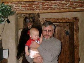 Барсик с дедом и медведем