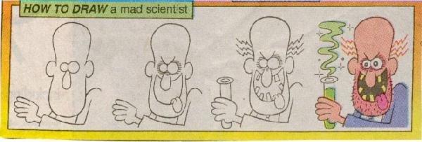 Как нарисовать сумасшедшего ученого