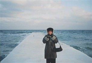 Аня. Зима. Море. Одесса.
