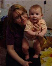 Мама и Саша.