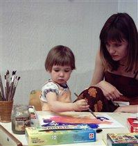 Автор Птицы зимой с мамой