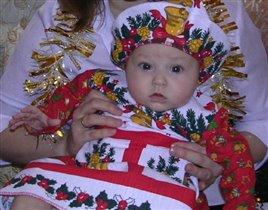 Наша маленькая Новогодничка-2004!