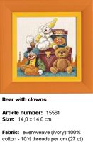 Bear with clowns Lanarte