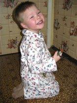 В маминой пижамке