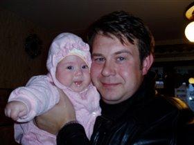 Папа и дочка. Похожи, правда!