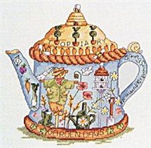 blue country teapot