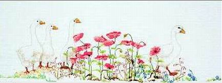 Poppies and Geese
