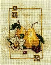 Pears with Orchid