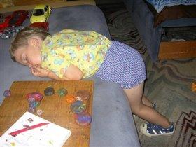 Играл, играл и уснул