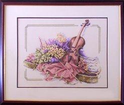 Violin with Flowers (#34128, Lanarte)