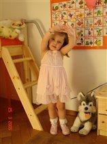 В любимом принцессином розовом платье