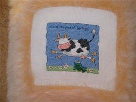 Подушка с коровой
