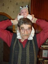 катаемся на деде!!