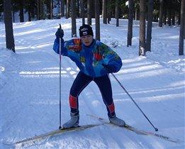 На лыжной трассе