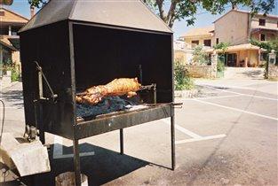 Словения. Свинка на вертеле.