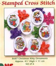 08687 Christmas Kitty Ornaments