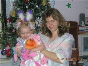 Мы с дочей в первые минуты Нового года