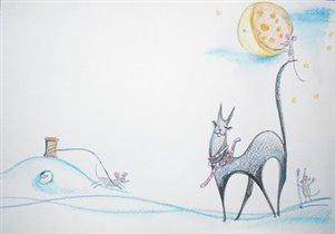 Очень милая и трогательная открыточка от Aliola