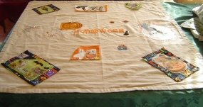 My halloween' tablecloth last finished