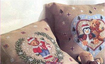 Схемы для новогодних подушечек