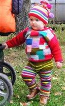Разоцветные полоски и квадратики