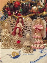 Christmas Angels in Crochet Thread MERRY CHRISTMAS FOR EVERYONE !